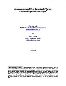 Computable General Equilibrium Modeling Analysis - Erinc Yeldan