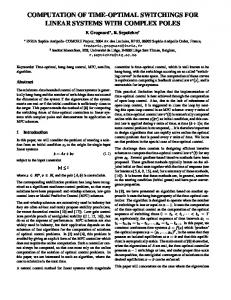 Computation of time-optimal switchings for linear ... - Semantic Scholar