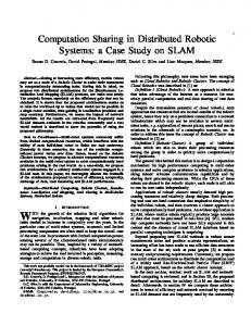 Computation Sharing in Distributed Robotic Systems ...