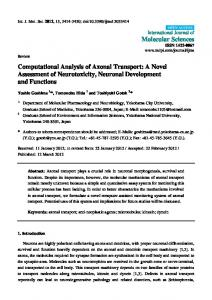 Computational Analysis of Axonal Transport: A Novel ... - CiteSeerX