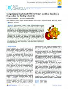 Computational Analysis of LOX1 Inhibition ... - ACS Publications