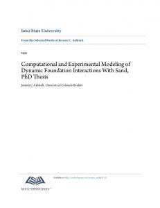 Computational and Experimental Modeling of