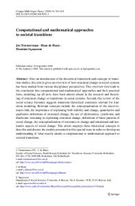 Computational and mathematical approaches to ... - Springer Link