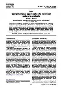 Computational approaches to neuronal network ... - Emory Biology