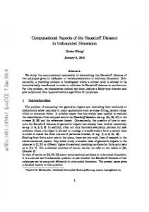 Computational Aspects of the Hausdorff Distance in Unbounded ...