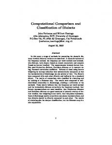 Computational Comparison and Classification of ... - Semantic Scholar