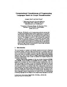 Computational Completeness of Programming Languages Based on ...