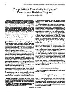 Computational Complexity Analysis of Determinant Decision Diagram