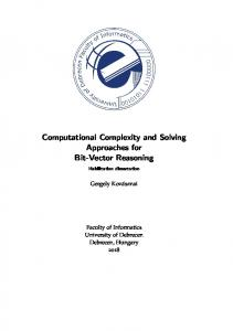 Computational Complexity and Solving Approaches