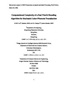 Computational Complexity of a Fast Viterbi