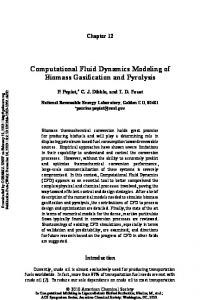 Computational Fluid Dynamics Modeling of Biomass Gasification and ...