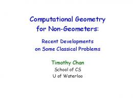 Computational Geometry for Non-Geometers