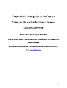 Computational Investigation on the Catalytic Activity of