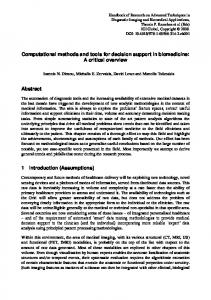 Computational methods and tools for decision support