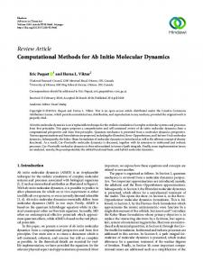 Computational Methods for Ab Initio Molecular Dynamics