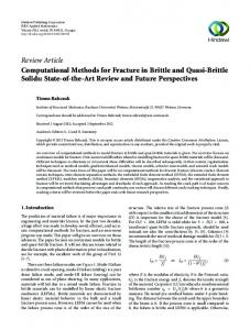 Computational Methods for Fracture in Brittle and Quasi-Brittle Solids ...