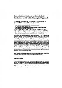 Computational Methods for Protein Fold Prediction: an Ab-initio