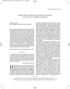 computational modeling of music cognition: a ... - Music Cognition Group