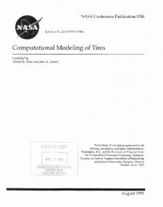 Computational Modeling of Tires