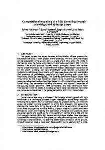 Computational modelling of a TBM tunnelling through ...
