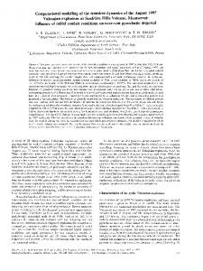 Computational modelling of the transient dynamics of