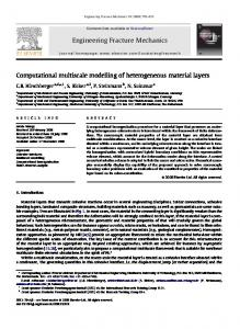 Computational multiscale modelling of heterogeneous material layers