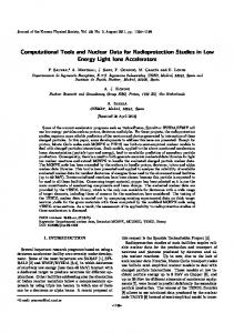 Computational Tools and Nuclear Data for Radioprotection Studies in ...