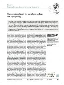 Computational tools for polypharmacology and