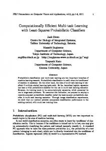Computationally Efficient Multi-task Learning with Least-Squares ...