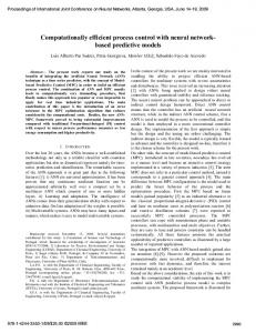 Computationally efficient process control with neural networkbased