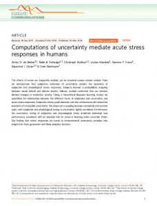 Computations of uncertainty mediate acute stress responses in humans