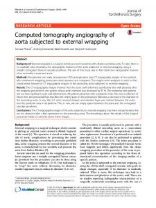Computed tomography angiography of aorta subjected ... - Springer Link