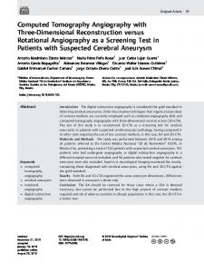 Computed Tomography Angiography with Three ... - Semantic Scholar