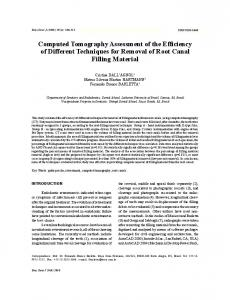 Computed Tomography Assessment of the