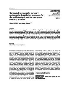 Computed tomography coronary angiography: Is