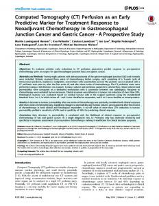 Computed Tomography (CT) Perfusion as an Early ... - Semantic Scholar