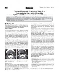 Computed Tomography Diagnosis of Mucocele of ... - MedIND