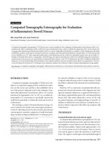 Computed Tomography Enterography for Evaluation ... - BioMedSearch