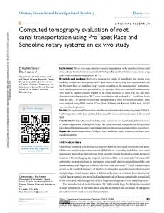 Computed tomography evaluation of root canal ...