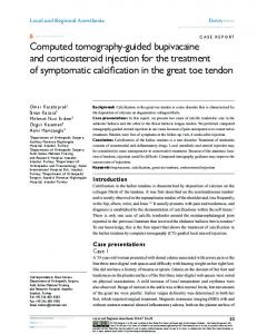 Computed tomography-guided bupivacaine and ... - Semantic Scholar