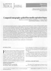 Computed tomography-guided fine-needle ... - Semantic Scholar