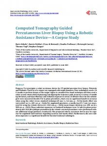 Computed Tomography Guided Percutaneous Liver Biopsy Using a ...