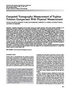 Computed tomography measurement of tophus ... - Wiley Online Library