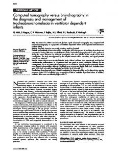 Computed tomography versus bronchography in the diagnosis ... - NCBI