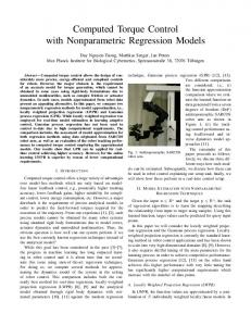 Computed Torque Control with Nonparametric Regression Models