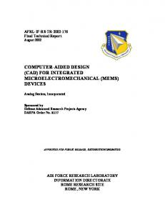 Computer-Aided Design (CAD) for Integrated ...