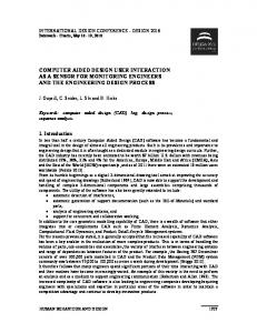 computer aided design user interaction as a sensor for monitoring ...