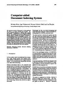 Computer-aided Document Indexing System