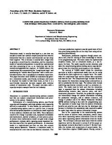 computer-aided manufacturing simulation (cams) - Semantic Scholar