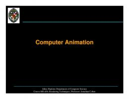 Computer Animation - Department of Computer Science